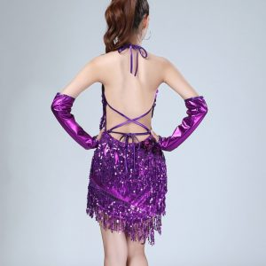 purple flapper dress for women