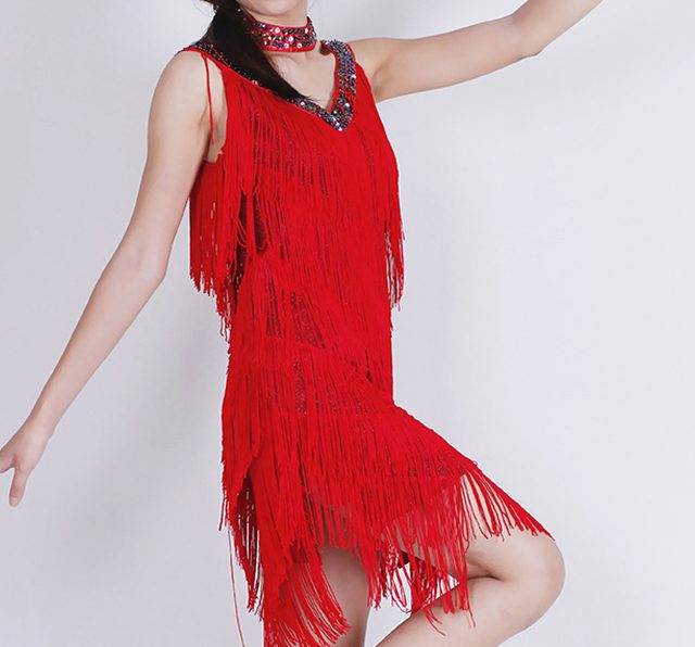red fringe outfit for women