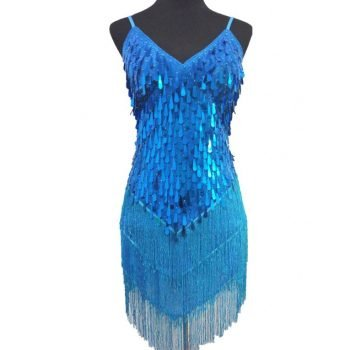 turquoise flapper dress for women