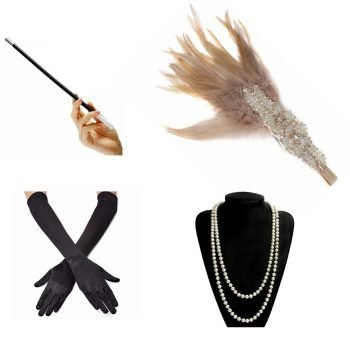 1920s flapper accessories for women