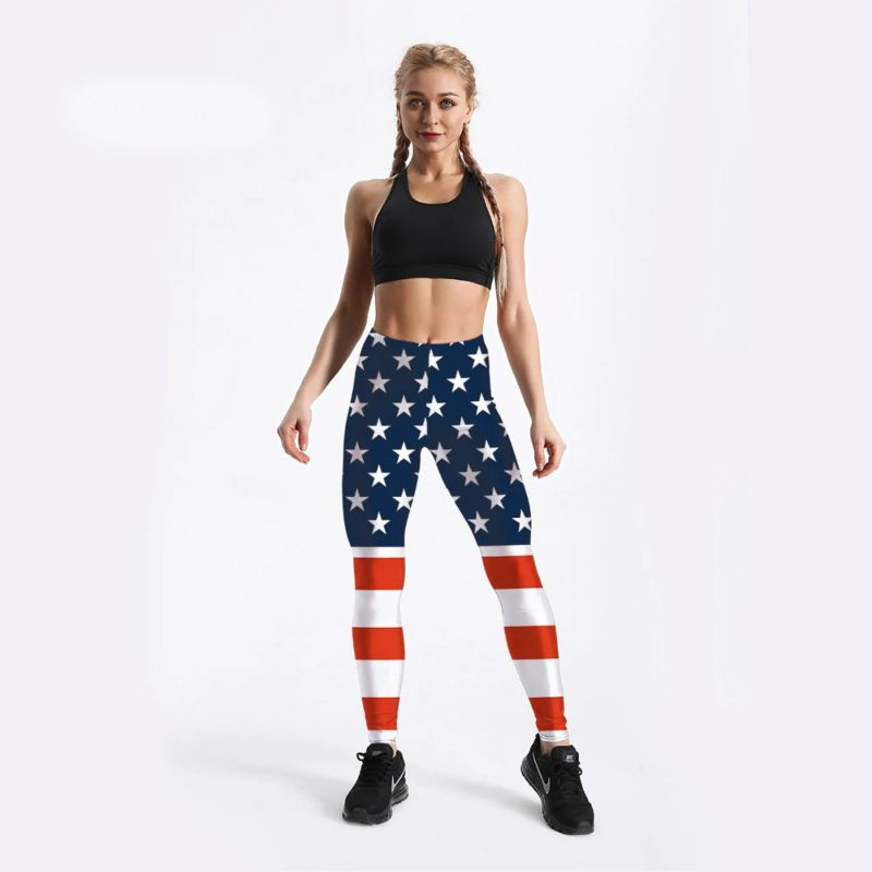 American flag leggings for women S-4XL