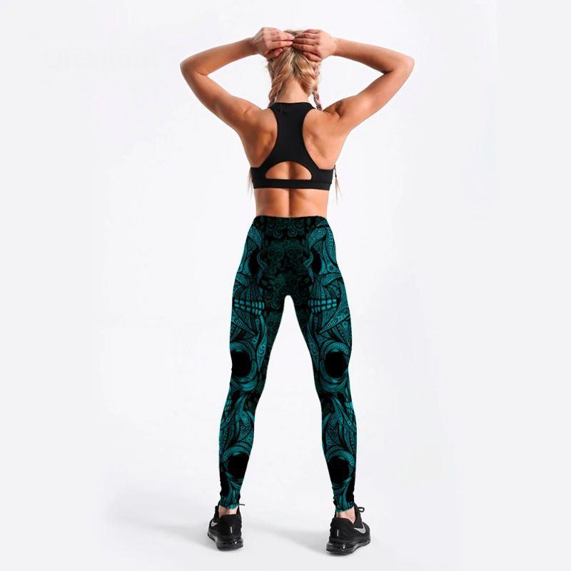 Day of the dead yoga pants S-4XL