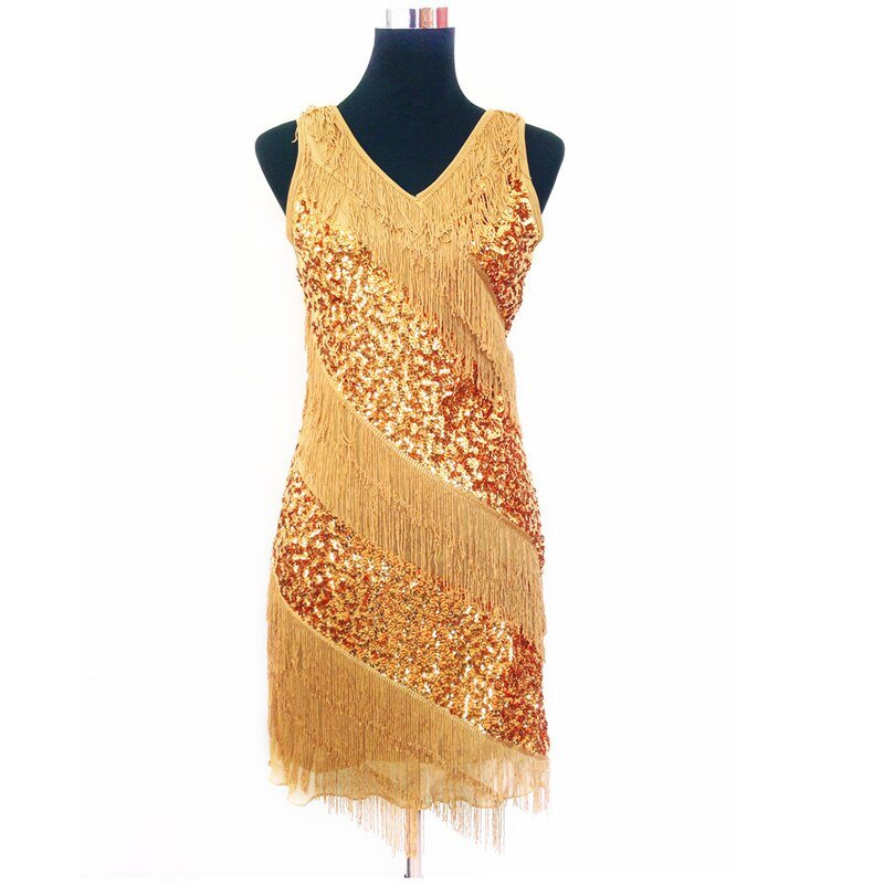 Female flapper costume for women in gold