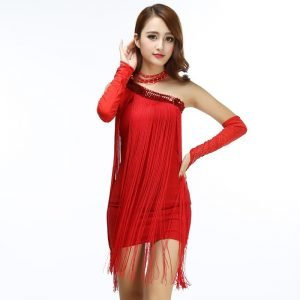 festival fringe dress(red