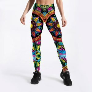Floral fitness leggings for women S-4XL