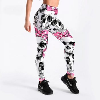High waisted skull leggings S-4XL