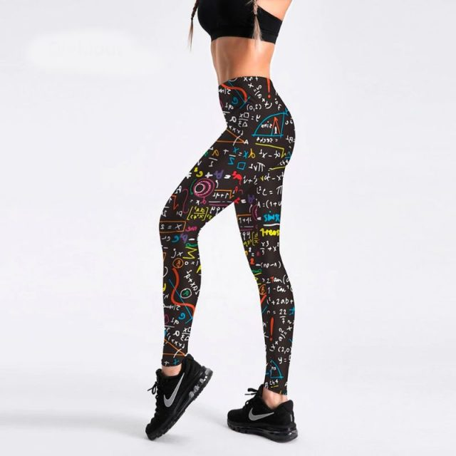 Maths leggings for women S-4XL