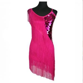 Pink fringe outfit for women