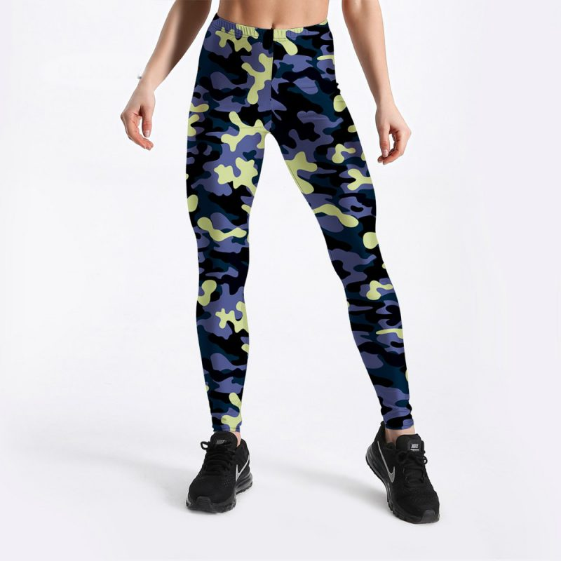 Plus size camo workout leggings S-4XL