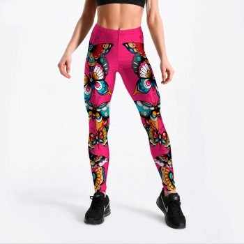 Womens butterfly leggings S-4XL