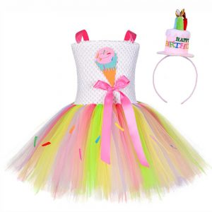 Rainbow party dress girls up to age 12 years