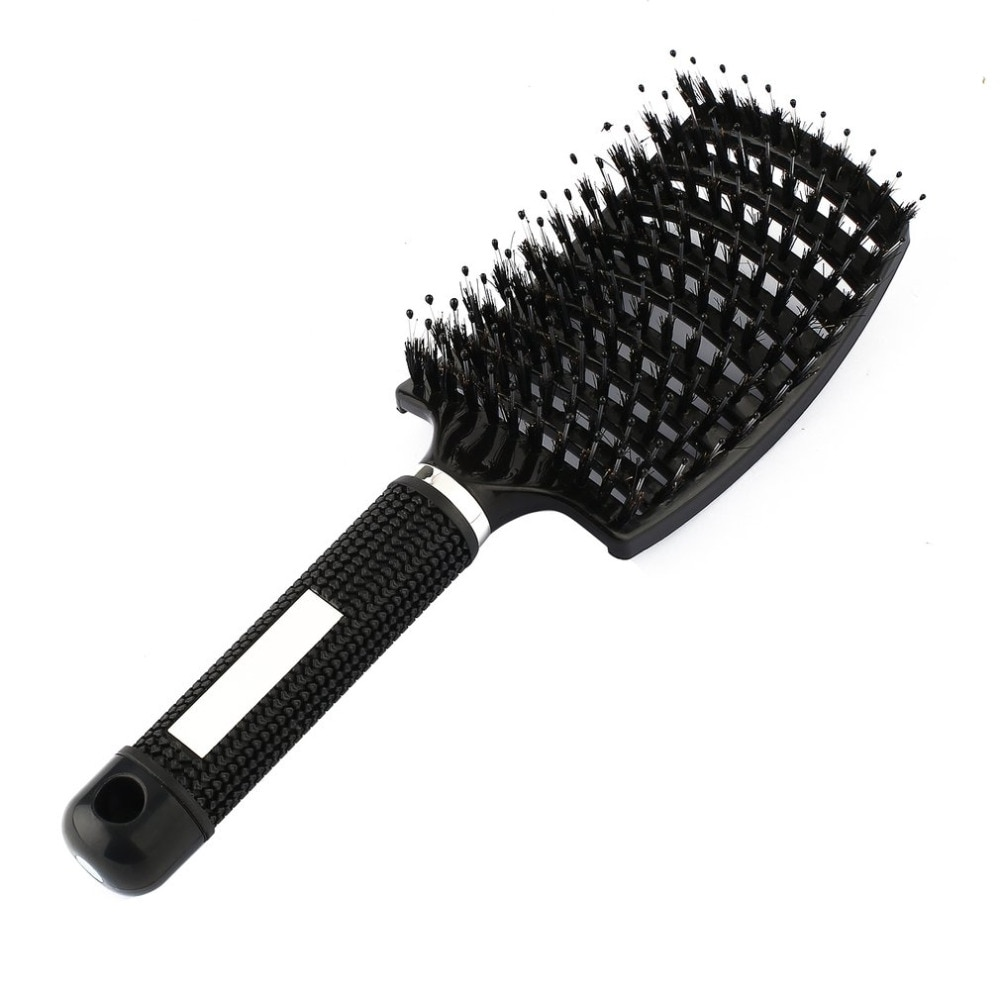 Black detangling brush for natural hair