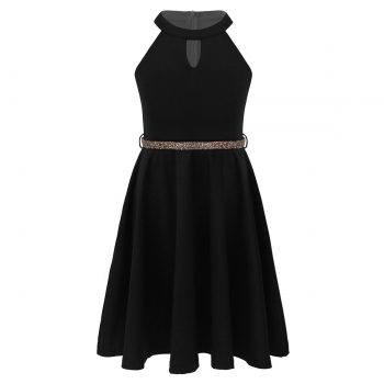 Girls black party dress up to age 14 years
