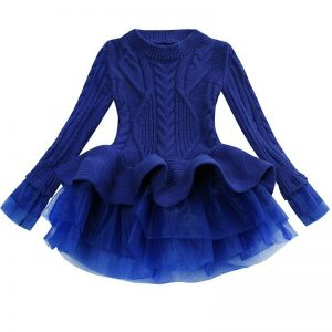 Girls cable knit dress