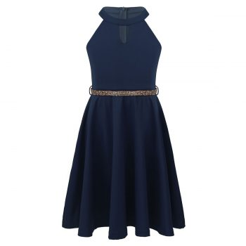 Girls navy blue party dress up to age 14 years