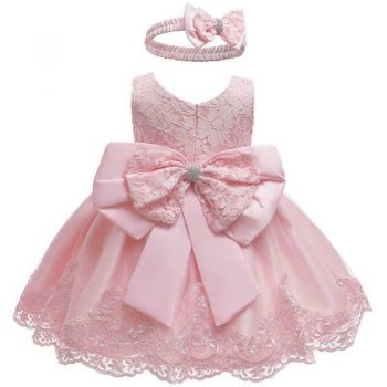 Lace baby pink dress up to age 24 months