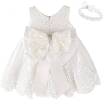 White lace baby dress