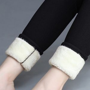 Thick fur lined leggings for winter