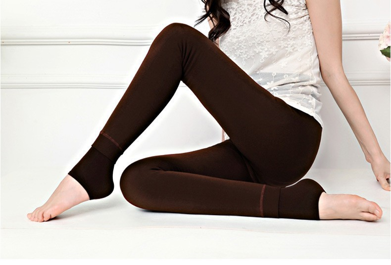Fleece lined thermal leggings womens